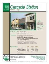 Portland, Oregon Cascade Station - Commercial Realty Advisors