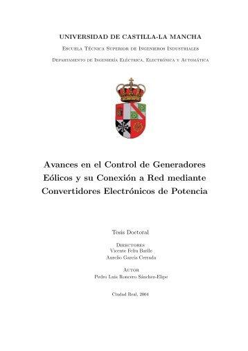 Avances en el Control de Generadores Eólicos y su Conexión a ...