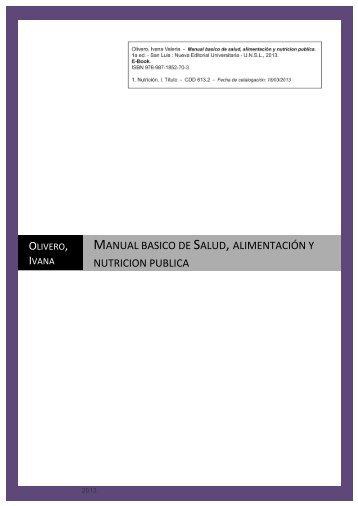 manual basico de salud, alimentación y nutricion publica