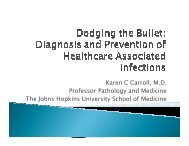 Diagnosis and Prevention of Healthcare Associated ... - SWACM