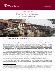 urban_sector_overview.pdf - Mercy Corps