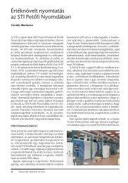 Értéknövelt nyomtatás az STI Petőfi Nyomdában - EPA
