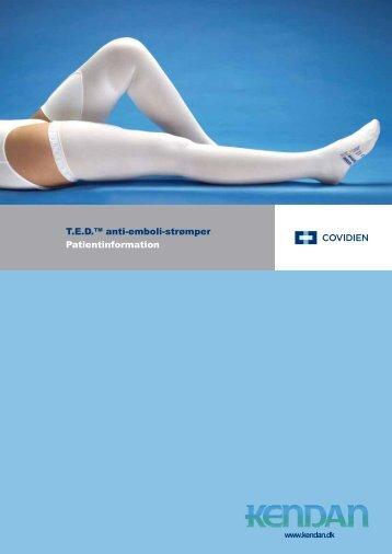 T.E.D.™ anti-emboli-strømper Patientinformation - Kendan