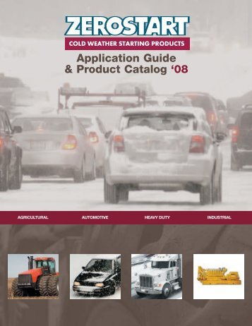 Application Guide & Product Catalog