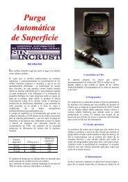 Purga Automática de Superficie - Romin