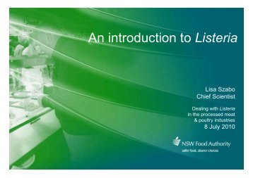 An introduction to Listeria - NSW Food Authority