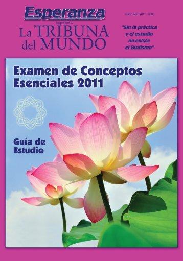 Examen de Conceptos Esenciales, año 2011 - SGI-USA
