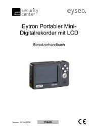 Eytron Portabler Mini- Digitalrekorder mit LCD - Abus
