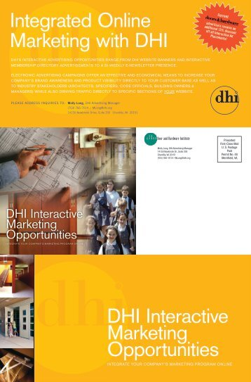 Interactive Advertising Brochure - Door and Hardware Institute
