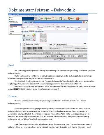 Uputstvo za Dokumentarni Sistem