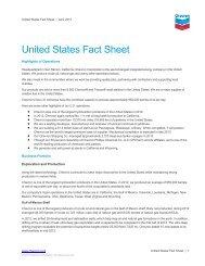 United States Fact Sheet - Chevron