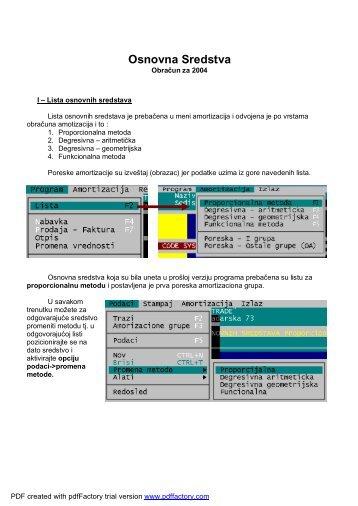 Uputstvo za osnovna sredstva (PDF) - Code System