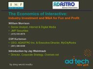 The Economics of Interactive: Industry Investment and M&A for Fun ...