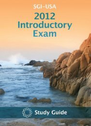 SGI-USA Introductory Exam Study Guide