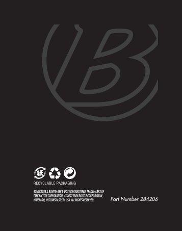 Part Number 284206 - Bontrager