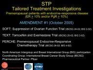 STP Amendment 1 overview - IBCSG