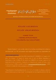 ius latii and lex irnitana - revista internacional de derecho romano ...