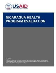 Nicaragua Health Program Evaluation