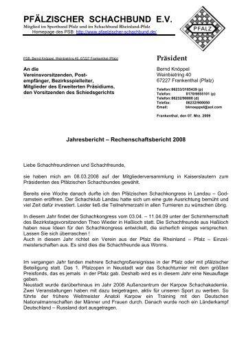 Präsident - Pfälzischer Schachbund