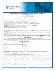 Votorantim Finanças Lâmina 2ª Emissão de ... - Banco Votorantim