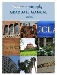 Graduate Manual - UCLA
