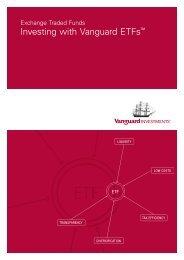 Investing with Vanguard ETFs™ - CommSec