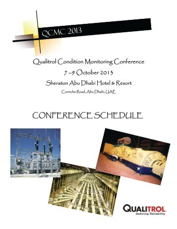 conference schedule & registration form - Iris Power Engineering