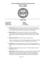 Policy Template Process Guide - East Stroudsburg University