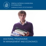 Doctoral Programme in management anD economics