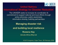 Managing disaster risk and building local resilience United Nations ...