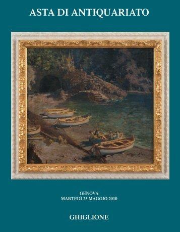 ASTA DI ANTIQUARIATO - Ghiglione 1885