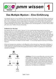 pmm wissen m - Plasmozytom / Multiples Myelom Selbsthilfegruppe ...