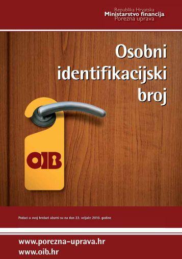 Osobni identifikacijski broj - Porezna uprava