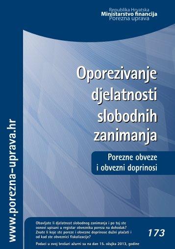 Porezne obveze i obvezni doprinosi - Porezna uprava