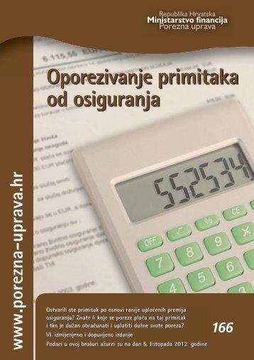 Brošura: Oporezivanje primitaka od osiguranja - Porezna uprava