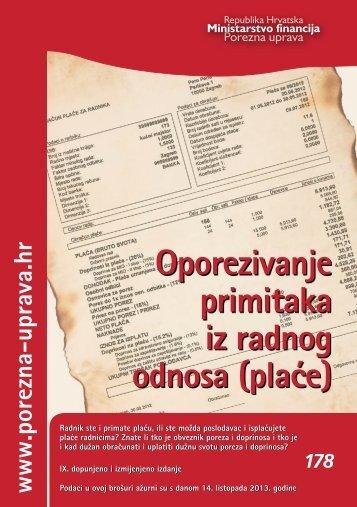 Oporezivanje primitaka iz radnog odnosa (pla}e) - Porezna uprava
