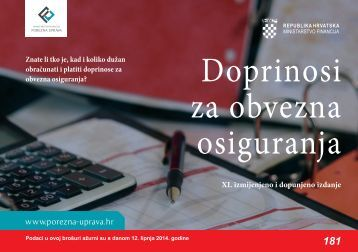 Doprinosi za obvezna osiguranja - Porezna uprava