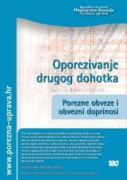 Brošura: Oporezivanje drugog dohotka - Porezna uprava