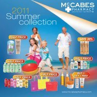 Summer collection 2011 - McCabe's Pharmacy