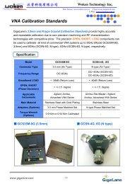 VNA Calibration Standards - Woken Technology Inc