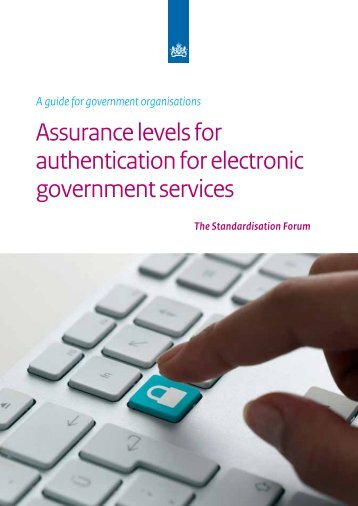 Assurance levels for authentication for electronic government services