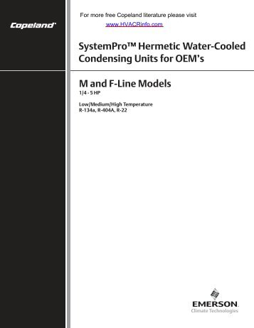 SystemPro Hermetic Water-Cooled 1/4 thru 5 HP - HVAC and ...