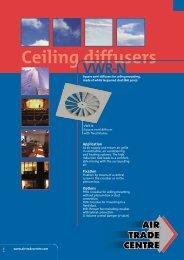 Ceiling diffusers VWR-N
