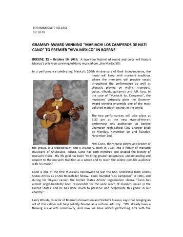 10.10.10 - Kerrville Performing Arts Society