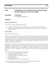 Linking Research to Teaching and Learning Through the ... - Seda