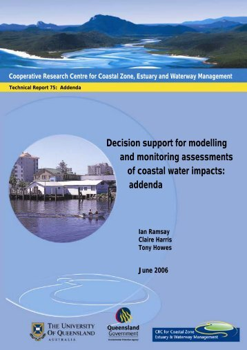 Decision support for modelling and monitoring ... - OzCoasts