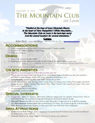 Accommodations Accommodations Dining On Site ... - New Hampshire
