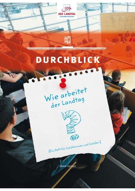 Heft für Schülerinnen und Schüler - Landtag Schleswig-Holstein