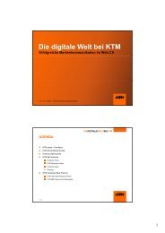 Die digitale Welt bei KTM - erfolgreiche Markenkommunikation - TIM