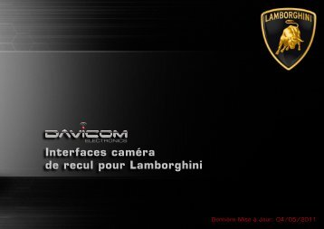 Interfaces caméra de recul pour Lamborghini - Davicom Electronics